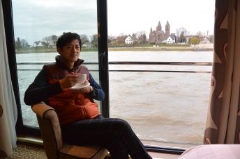 坐Tauck河船沿著萊茵河到達德國科隆