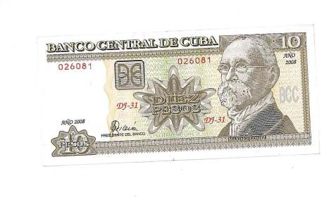 這就是十元的土披索, 合港幣四元。