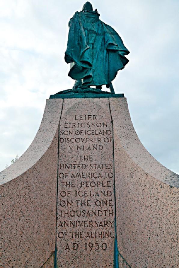 雕像紀念世界上第一個議會──冰島議會。