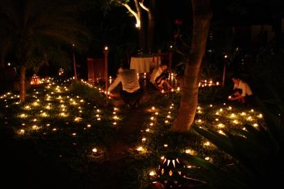 五百蠟燭晚餐準備也要兩個小時