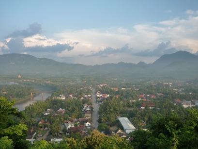 夕陽下的Luang Prabang