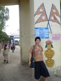 見到這雙三角旗圖案,代表終於進入尼泊爾國境了。